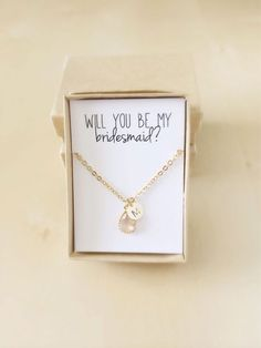 Six ways to ask your #bridesmaid - Personalised jewellery | CHWV