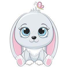 Kitten Drawing, Bunny Drawing, Cute Animal Clipart, Cute Clipart, Baby Animal Drawings, Cute Easy Animal Drawings, Baby Animals, Cute Animals, Silhouette Clip Art