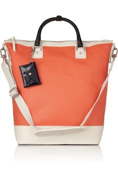 Diane von Furstenberg Sporty Drew coated-canvas and leather tote