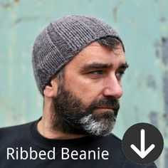 free Ribbed Beanie knitting pattern