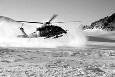 helicopter landing in the snow - Google Search