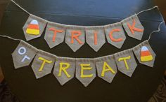 Trick or Treat Banner for Halloween