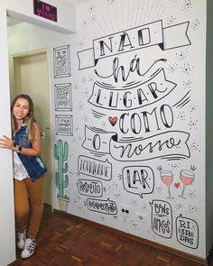 Olha essa parede Brasilllll ✨! Fiz com todo carinho e amor do mundo para os LINDOS do @fofoquei ! @radameskeller e @_arturmoreno…