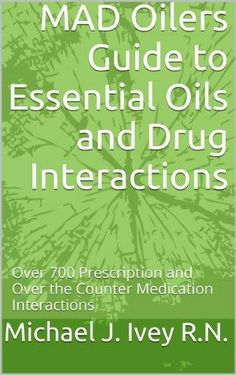 If you take prescriptions or over the counter medicine, you need this. -- In this ebook a R.N. lists the over 700 prescription drug and over the counter medication interactions with essential oils.  This is a great resource to have on-hand. Helpful to know about possible drug interactions with essential oils.