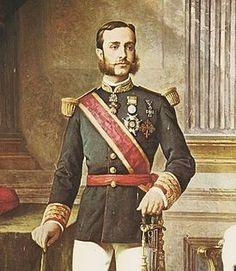 Alfonso XII de España. Casó en primeras nupcias con Maria de las Mercedes de Orleans y Borbón.