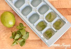 Lime and Mint Ice Cubes - A Spoonful of Sugar