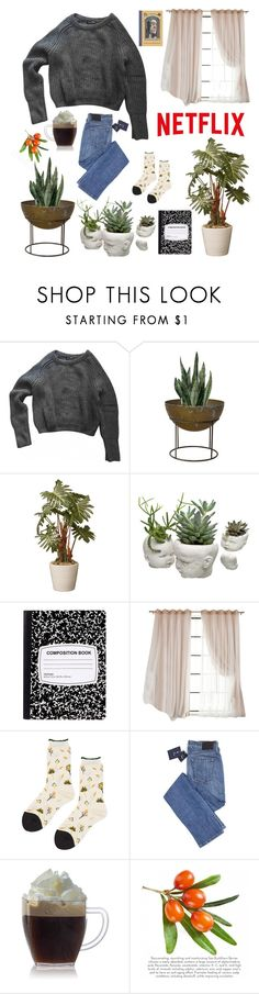 """Untitled #40"" by froggilike ❤ liked on Polyvore featuring American Apparel and Hansel from Basel"