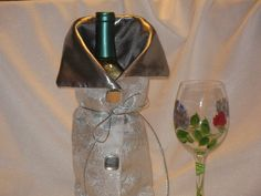 Wine bottle Bag / Holder / Cozy by JosieeDesigns on Etsy, $12.00
