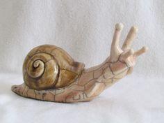 sculpture escargot cagouille raku céramique grès artisanal fait main Danièle et Jean-Pierre MEYER