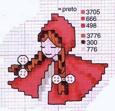 ENCANTOS EM PONTO CRUZ: Chapeuzinho Vermelho