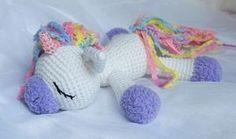 Sleeping unicorn pony crochet pattern free Mais