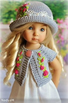 Porcelain And China Marks Knitting Dolls Clothes, Crochet Doll Clothes, Knitted Dolls, Effanbee Dolls, Crochet Doll Dress, American Doll Clothes, Doll Dress Patterns, How To Purl Knit, Cute Hats