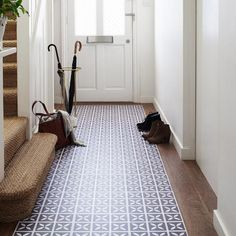 Make a real entrance with stunning hallway flooring from Harvey Maria. Tough enough for the busiest spaces and available in a beautiful range of patterns, colours and designs, our luxury vinyl flooring is perfect for any home. Hall Tiles, Tiled Hallway, Luxury Vinyl Flooring, Luxury Vinyl Tile, Small Entrance Halls, Main Entrance, Harvey Maria, Hall Flooring, Flooring Ideas