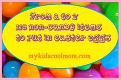 From A to Z, 115 non-candy items to hide in Easter eggs!