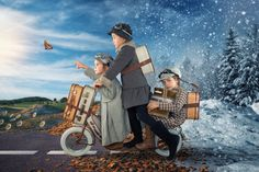 Creative Dad Photoshopped His Daughter's Lives Through Fantastical Photography