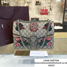 219e6770fc1 Gucci Dionysus GG Supreme Pineapple Flower Embroidery Canvas Shoulder  Medium Bag Sequin Appliqu Fall Winter 2016 Collection Beige