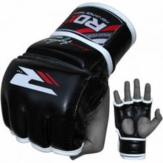 RDX Leather-X Training Grappling MMA Gloves
