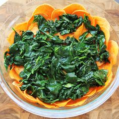 Spinach quiche with Sweet Potato crust for Brunch. Naturally gluten free.
