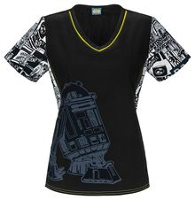 R2D2 To The Rescue Scrub Top For Women