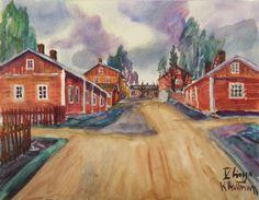 Kalle Aaltonen. V linja . Akvarelli. Painting, Art, Art Background, Painting Art, Kunst, Paintings, Performing Arts, Painted Canvas, Drawings