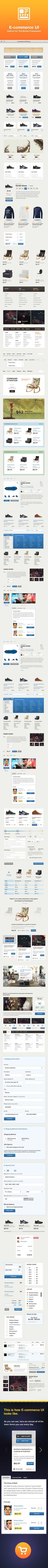 E-commerce UI – User Interface Kit