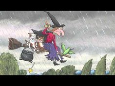 Room on the Broom readaloud by Liz's Book Snuggery AR: 61672 EN Room on the Broom Donaldson, Julia F Halloween Activities, Autumn Activities, Halloween Themes, Book Activities, Fun Songs, Kids Songs, Halloween Gif, Halloween Pumpkins, Room On The Broom