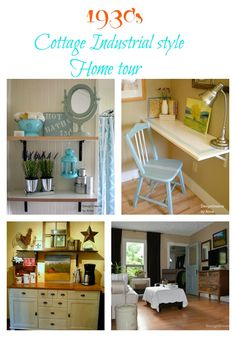 1930's cottage industrial style home tour