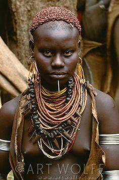Karo tribeswoman, Murle region, Ethiopia