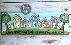 Chapter Love thy neighbor as theyself Painting Letters, Scripture Painting, Scripture Doodle, Scripture Art, Bible Art, Diy Painting, Watercolor Painting, Bible Verses, Canvas Designs