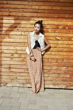 Maxi Skirt & Jean Jacket