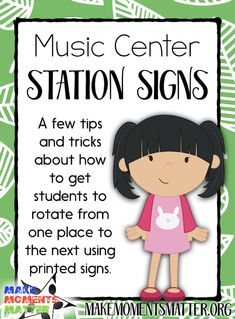 Rotation through centers is much easier when you use simple signs to help students figure out how to rotate! Physical Education Games, Music Education, Health Education, Education Quotes, Elementary Music, Elementary Schools, Teaching Music, Teaching Kids, Music Classroom