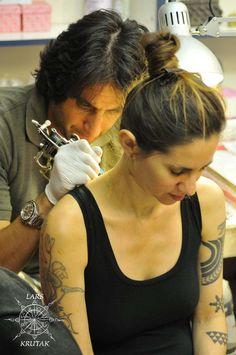Get a pilgrim tattoo at Razzouk Ink in Jerusalem.