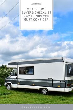 Think of buying your first motorhome or simple upgrading but don't really know what you should be looking for then check out my motorhome buyers checklist. Best Motorhomes, Motorhome Fun, Rv Travel, You Must, Recreational Vehicles, Simple, Check, Camper Van, Campers