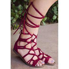 b2dd3dd341e Gladiator Style Strapped Sandals - Closed Heel   Zipper Back – AOJA FASHION  Suede Sandals