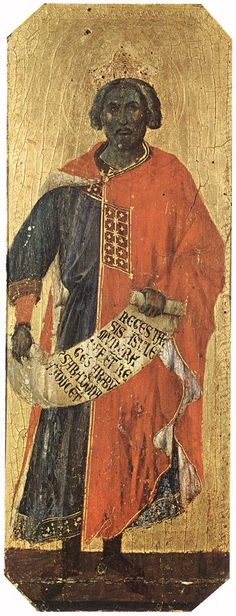 King Solomon by Italian painter Duccio di Buoninsegna Songs of Solomon I am black, but comely,(I AM BLACK(dark skinned) and BEAUTIFUL) O ye daughters of Jerusalem, as the tents of Kedar, as the. Ancient Art, Ancient History, European History, Siena, Duccio Di Buoninsegna, Black Hebrew Israelites, Black Jesus, King Solomon, World History