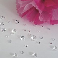 Over 2600 Clear Diamond Wedding Table Confetti Scatter Crystals - 3 Mixed Sizes: Amazon.co.uk: Kitchen & Home