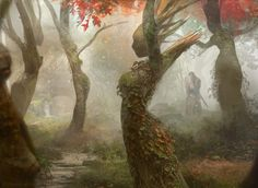 Magic the Gathering: Dryad Arbor by Brad Rigney ~ A World of Fantasy ~ Magical Creatures, Fantasy Creatures, Design Spartan, Mtg Art, Digital Art Gallery, Tree Forest, Magic Forest, Forest Art, Magic The Gathering