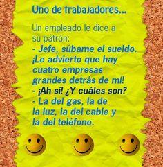 Aprender es más fácil cuando ríes. Un chiste en español.    www.veintemundos.com