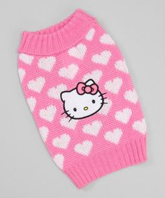 Take a look at this Pink & White Heart Dog Sweater by Hello Kitty on #zulily today!