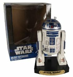 """7"""" Star Wars R2-D2 Droid Wooden Christmas Nutcracker Figure by Kurt Adler. $39.99. Star Wars R2-D2 Droid NutcrackerItem #SW0156Officially licensed merchandiseFinely-detailed nutcracker features Luke Skywalker's R2-D2 astromech droidNutcracker's decorative base bears a gold-colored plaque inscribed with """"Star Wars R2-D2""""For decorative purposes onlyComes gift boxedDimensions: 7""""H x 4.25""""W x 4""""DMaterial(s): wood/metal. Save 27%!"""