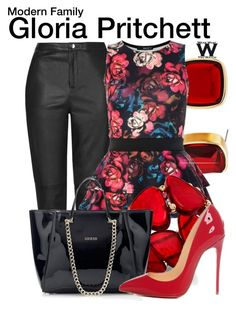 """""""Modern Family"""" by wearwhatyouwatch ❤ liked on Polyvore featuring Chico's, Topshop, Dorothy Perkins, Style & Co., Christian Louboutin, modern, television and wearwhatyouwatch"""