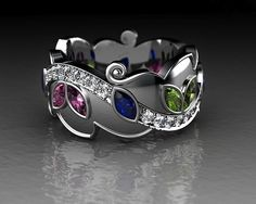 mother's ring with children's birthstones