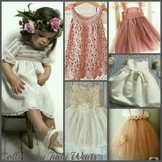 Toddler Girl's Dresses Collage by Judy Waits