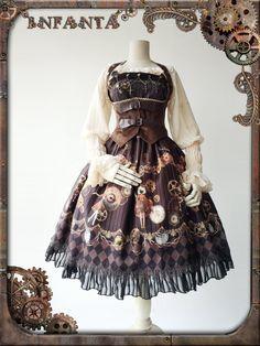 Infanta -Antique Mechanical Doll- Steampunk Lolita Jumper Dress