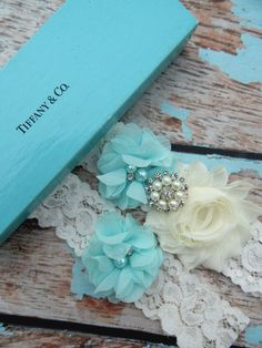 Would love a garter like these.(in my colors) Garter / Wedding Garter / Tiffany Blue by CutieButtsBoutique, $24.99