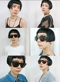 kim nayoung Mode Shorts, Short Hairstyles For Women, Don't Care, Haircuts, Short Hair Styles, Hair Makeup, Style Inspiration, Woman, How To Wear
