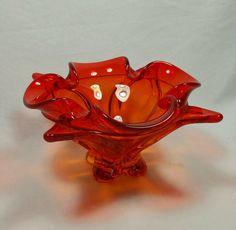 Orange Bowl, Antique Glassware, Viking Art, Vikings, Glass Art, Vintage Items, Antiques, Pretty, Color