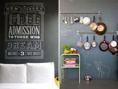 Aprenda três métodos diferentes para criar e decorar sua própria parede lousa :)
