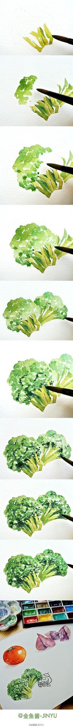 画水彩画的微博_微博
