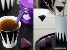 Nicest Things: DIY: Origami Paper Diamonds / geometric, crafts, painted porcelain, marimekko, house of rym